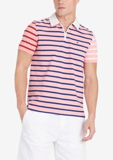 Tommy Hilfiger Men's Daniel Regular-Fit Colorblocked Stripe Logo Polo
