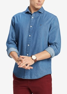 Tommy Hilfiger Men's Danny Twill Classic Fit Shirt, Created for Macy's