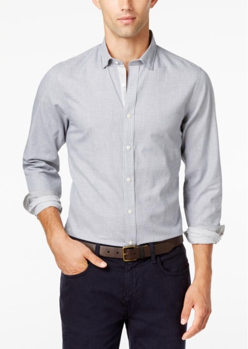 Tommy hilfiger tommy hilfiger men 39 s darren geo print long for Men oxford slim fit long sleeve shirt