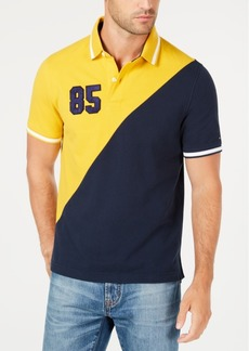 Tommy Hilfiger Men's Diagonal Colorblock Classic Fit Polo, Created for Macy's