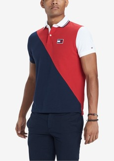 Tommy Hilfiger Men's Diagonal Colorblocked Polo, Created for Macy's