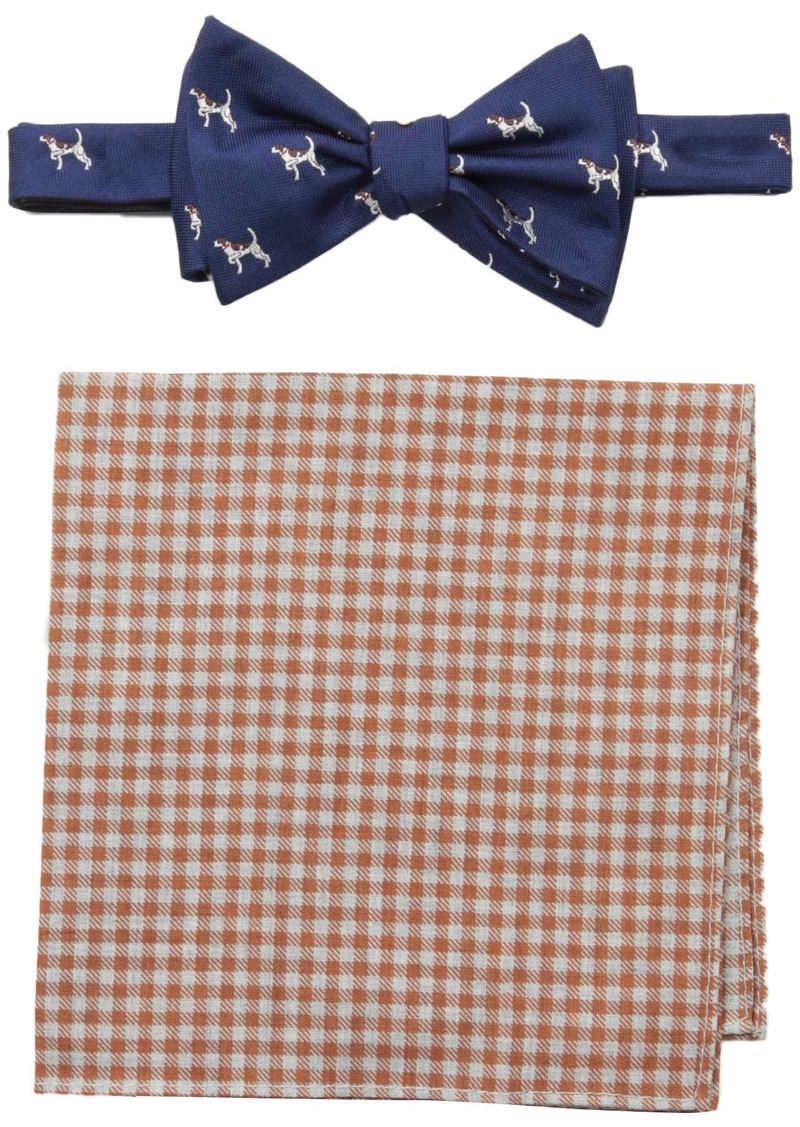 bb20a992fa9e Men's Dog and Gingham Self-Tie Bow Tie and Pocket Square Set. Tommy Hilfiger