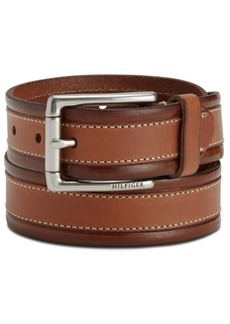 Tommy Hilfiger Men's Double-Stitch Dress Belt