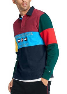 Tommy Hilfiger Men's Easton Logo Rugby Shirt, Created For Macy's