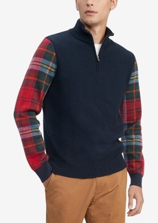 Tommy Hilfiger Men's Edwards Regular-Fit Colorblocked 1/4-Zip Sweater