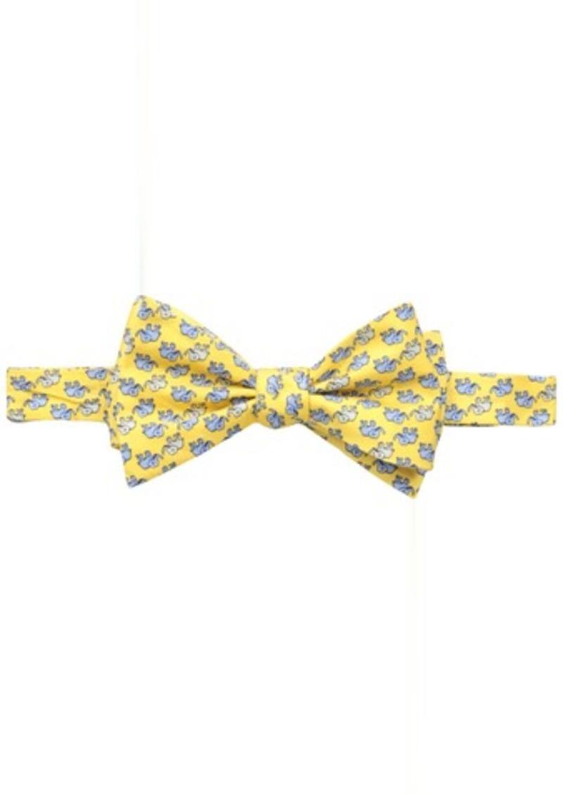 Tommy Hilfiger Men's Elephant Print Self-Tie Bow Tie
