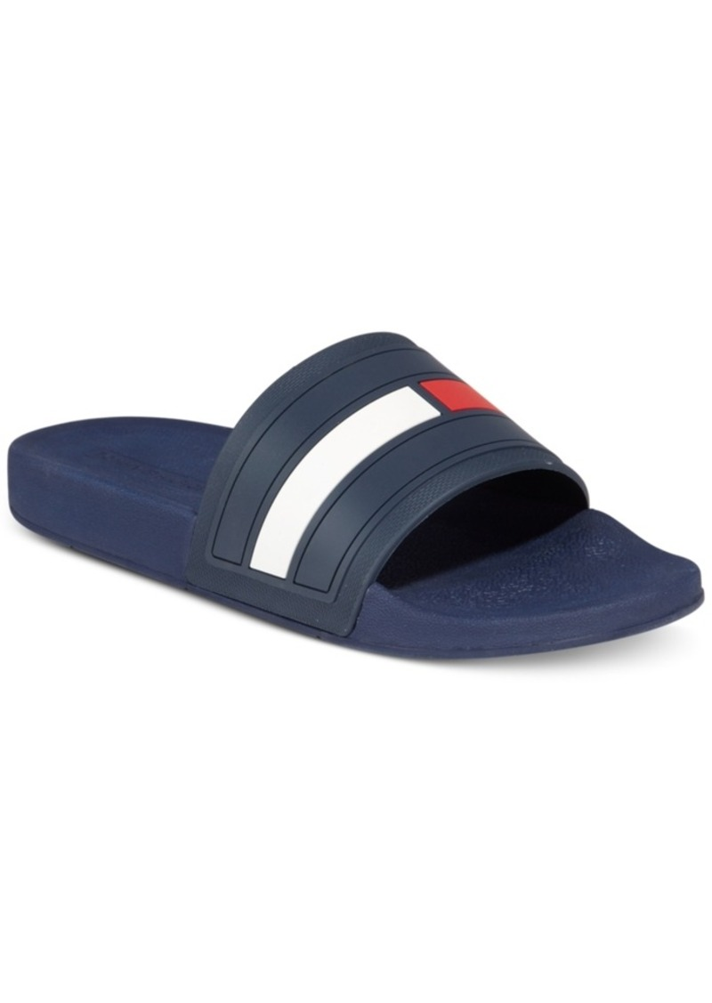 tommy hilfiger tommy hilfiger men 39 s elwood slide sandals created for macy 39 s men 39 s shoes shoes. Black Bedroom Furniture Sets. Home Design Ideas