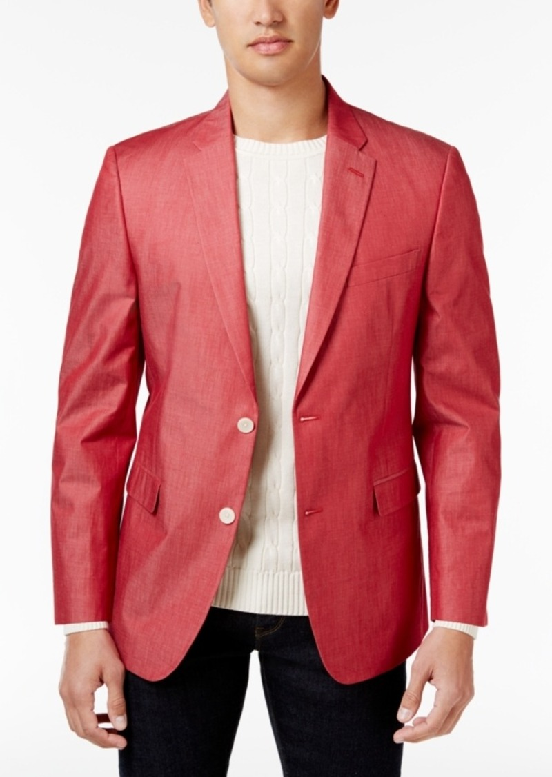 7a07d83ed Men's Extra Slim-Fit Red Chambray Sport Coat