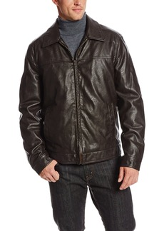Tommy Hilfiger Men's Faux Leather Zip Front Jacket
