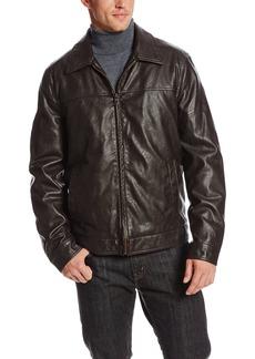 Tommy Hilfiger Men's Faux Leather Zip Front Jacket