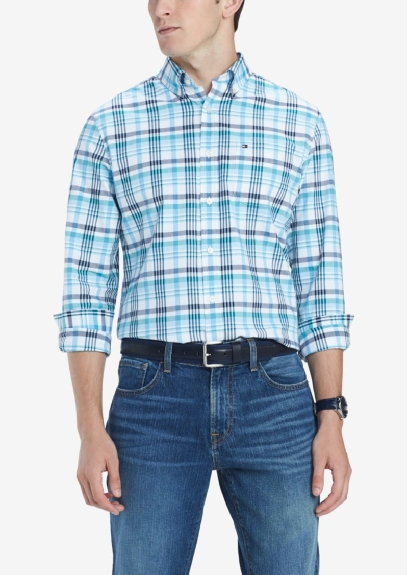 00914ac9 Tommy Hilfiger Tommy Hilfiger Men's Finch Custom-Fit Stretch Plaid ...