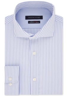 Tommy Hilfiger Men's Flex Collar with Cooling Fabric Athletic Fit Performance Stretch Dress Shirt