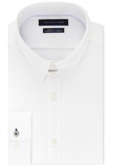 Tommy Hilfiger Men's Fitted Th Flex Cooling Stretch Performance White Dress Shirt