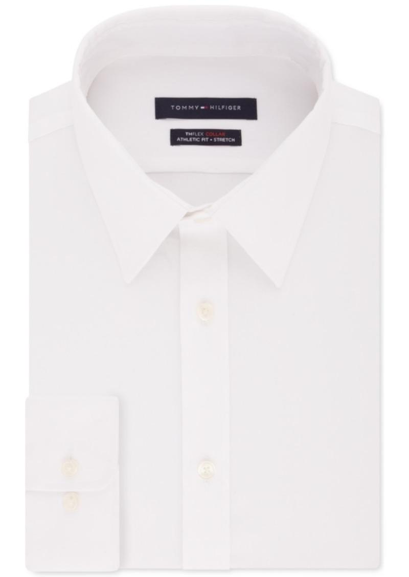 Tommy Hilfiger Men's Fitted THFlex Flex Collar Performance Stretch Solid Dress Shirt