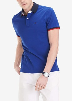 Tommy Hilfiger Men's Flag Pride Polo Shirt in Custom Fit DEEP Blue