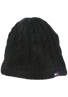 Tommy Hilfiger Men's Fleece-Lined Cable Beanie