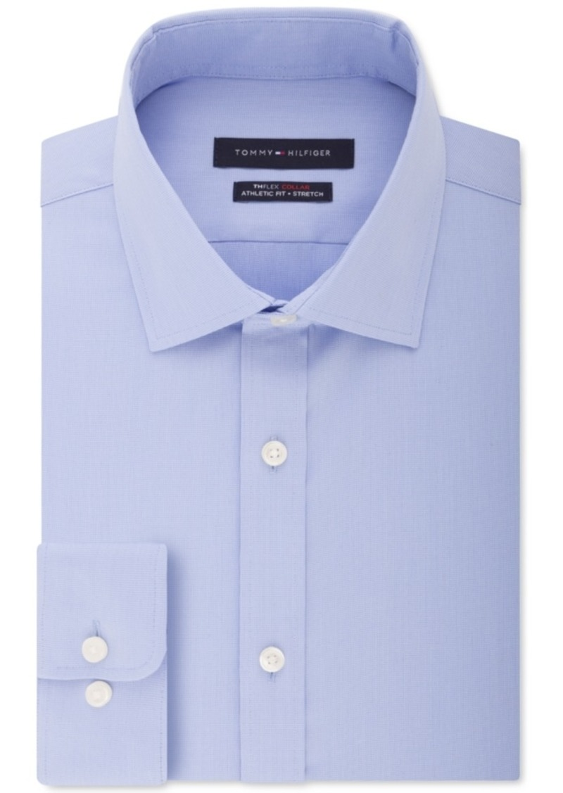 Tommy Hilfiger Men's Flex Collar with Cooling Fabric Athletic Fit Non-Iron Performance Stretch Dress Shirt