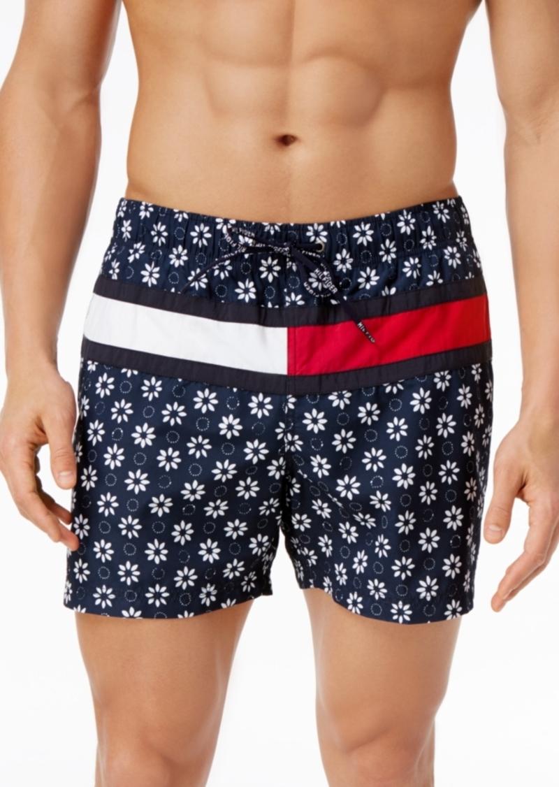 9187b12985 Tommy Hilfiger Tommy Hilfiger Men's Floral-Print Swim Trunks Now $49.99