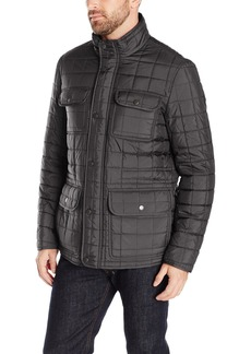 Tommy Hilfiger Men's Four Pocket Box Quilted Military Jacket