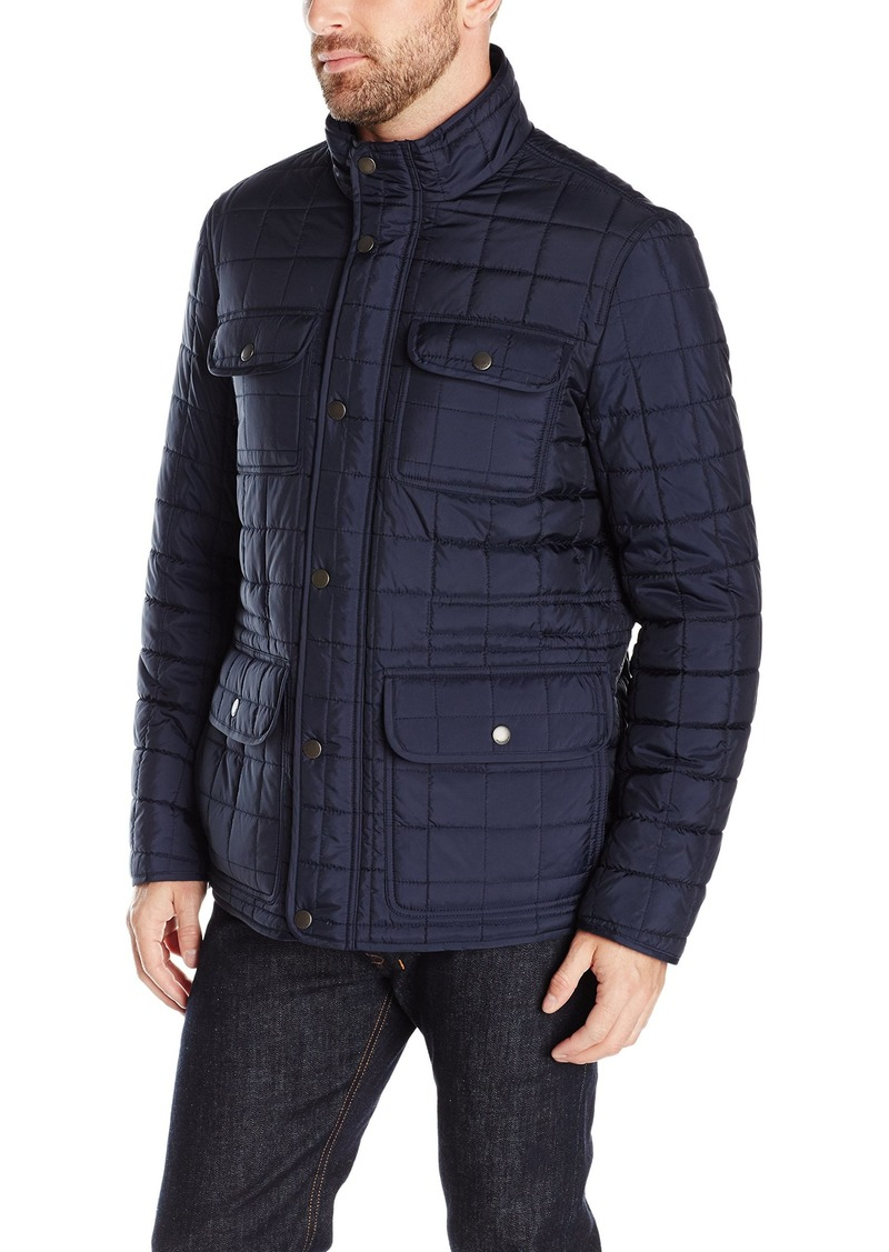 Tommy Hilfiger Men's Four Pocket Box Quilted Military Jacket Midnight L