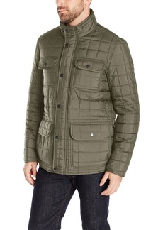 Tommy Hilfiger Men's Four Pocket Box Quilted Military Jacket  XL