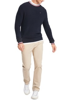 Tommy Hilfiger Men's Geneva Regular-Fit Tipped Ribbed-Knit Sweater