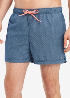 "Tommy Hilfiger Men's Geo-Print 6.5"" Swim Trunks, Created for Macy's"