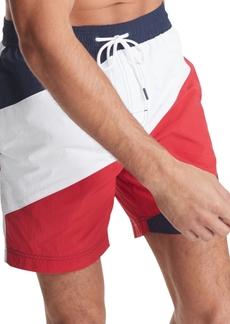 Tommy Hilfiger Men's Global Strike Swim Trunks, Created For Macy's