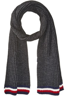 Tommy Hilfiger Men's Global Stripe Ribbed Scarf gray OS