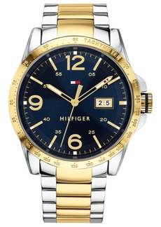 Tommy Hilfiger Men's Gold-Tone Stainless Steel Bracelet Watch 44mm