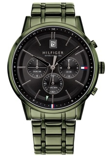 Tommy Hilfiger Men's Green Stainless Steel Bracelet Watch 43mm, Created for Macy's