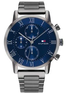 Tommy Hilfiger Men's Gunmetal Gray Bracelet Watch 44mm