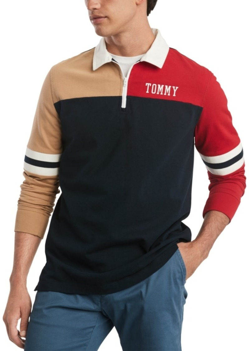 Tommy Hilfiger Men's Hale Colorblock Long Sleeve Polo Rugby Shirt, Created for Macy's