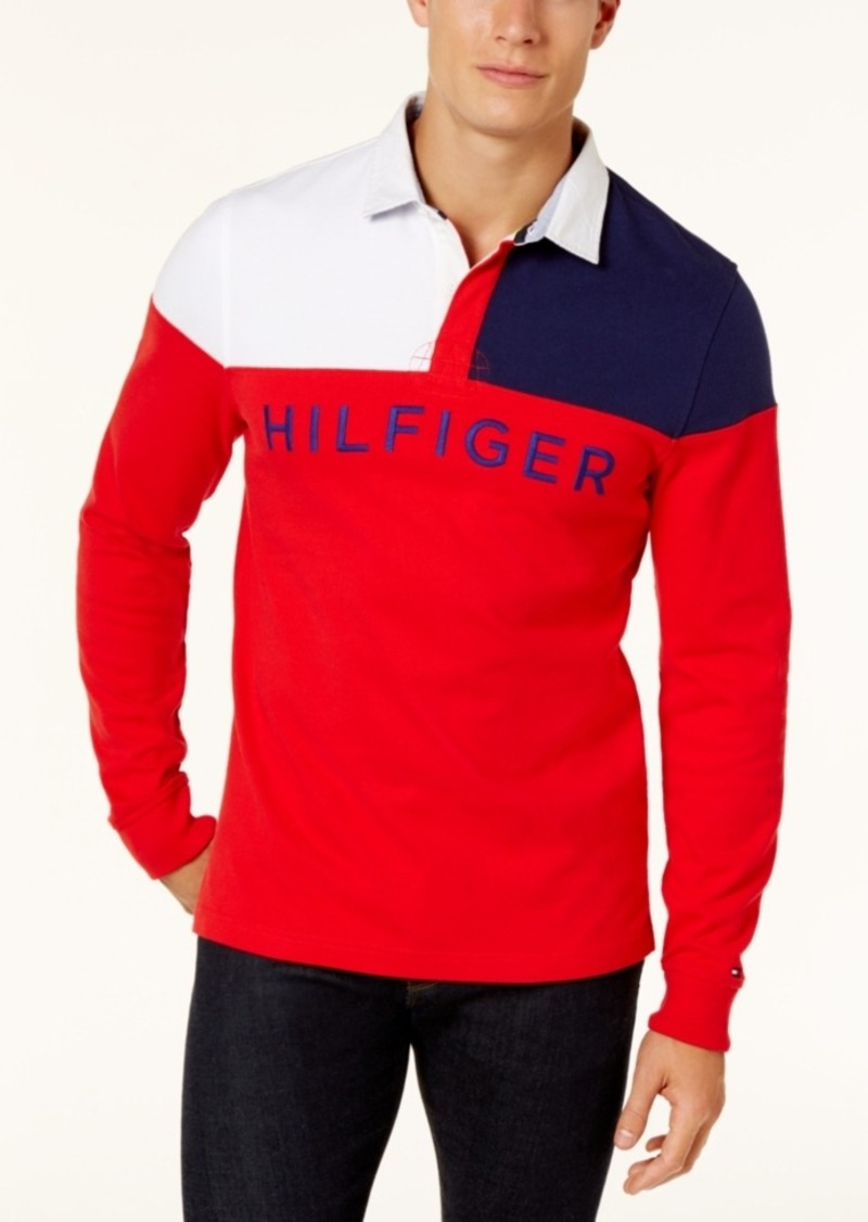 37c5e3c9 Tommy Hilfiger Tommy Hilfiger Men's Harbor Rugby Polo Shirt | Casual ...