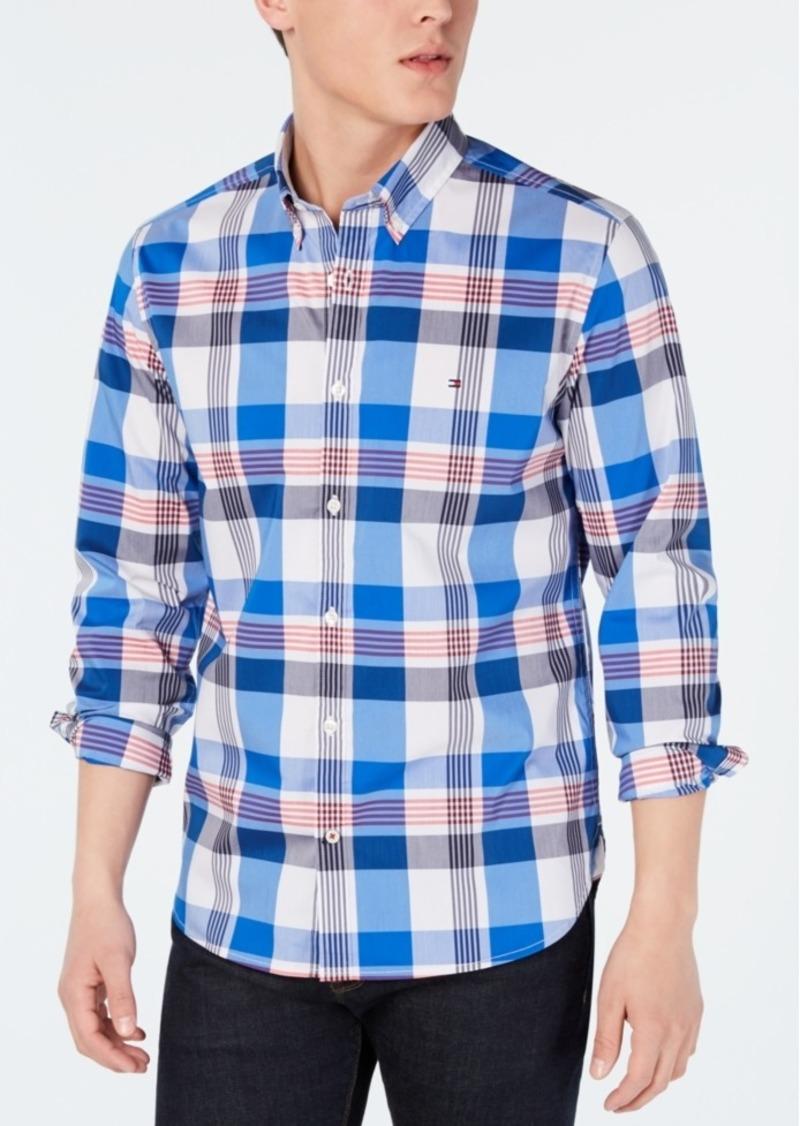 Tommy Hilfiger Men's Henderson Slim-Fit Stretch Performance Plaid Shirt