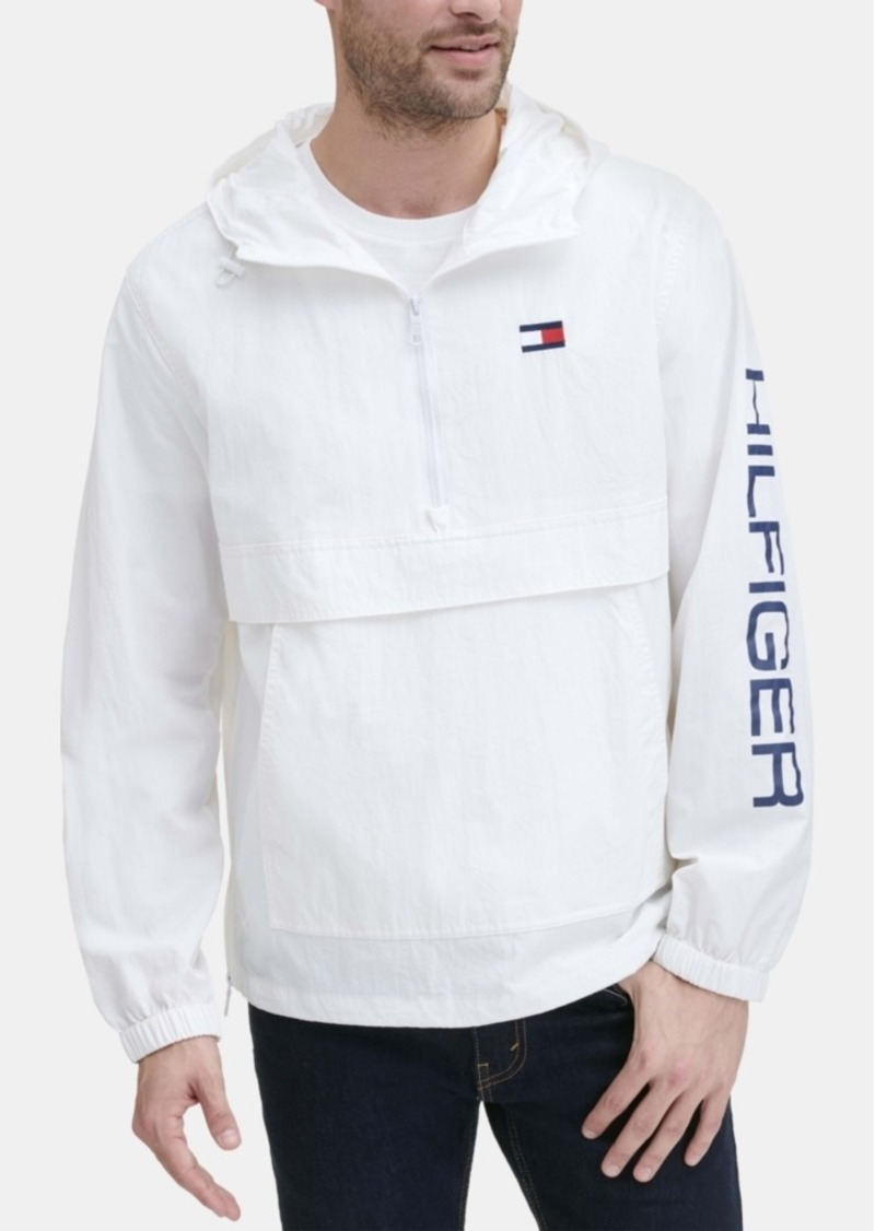 9842d3fa025 Tommy Hilfiger Tommy Hilfiger Men's Hooded Half-Zip Jacket | Outerwear