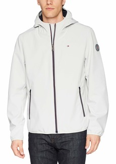 Tommy Hilfiger Men's Hooded Performance Soft Shell Jacket ice XX-LARGE