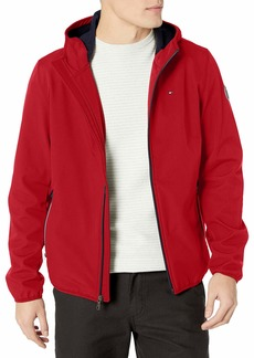Tommy Hilfiger Men's Hooded Performance Soft Shell Jacket red