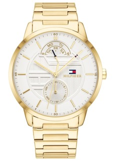 Tommy Hilfiger Men's Gold-Tone Bracelet Watch 44mm, Created for Macy's