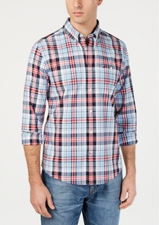 Tommy Hilfiger Men's Jack Custom-Fit Stretch Plaid Twill Shirt, Created for Macy's
