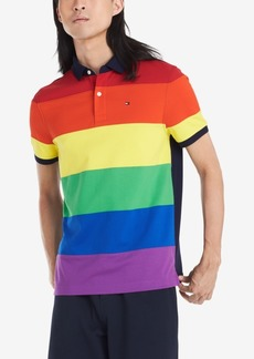 Tommy Hilfiger Men's Custom-Fit Pride Polo