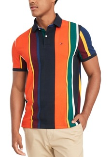 Tommy Hilfiger Men's Junior Stripe Big & Tall Polo Shirt, Created for Macy's