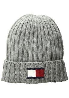 Tommy Hilfiger Men's Knit Logo Cuffed Hat  OS