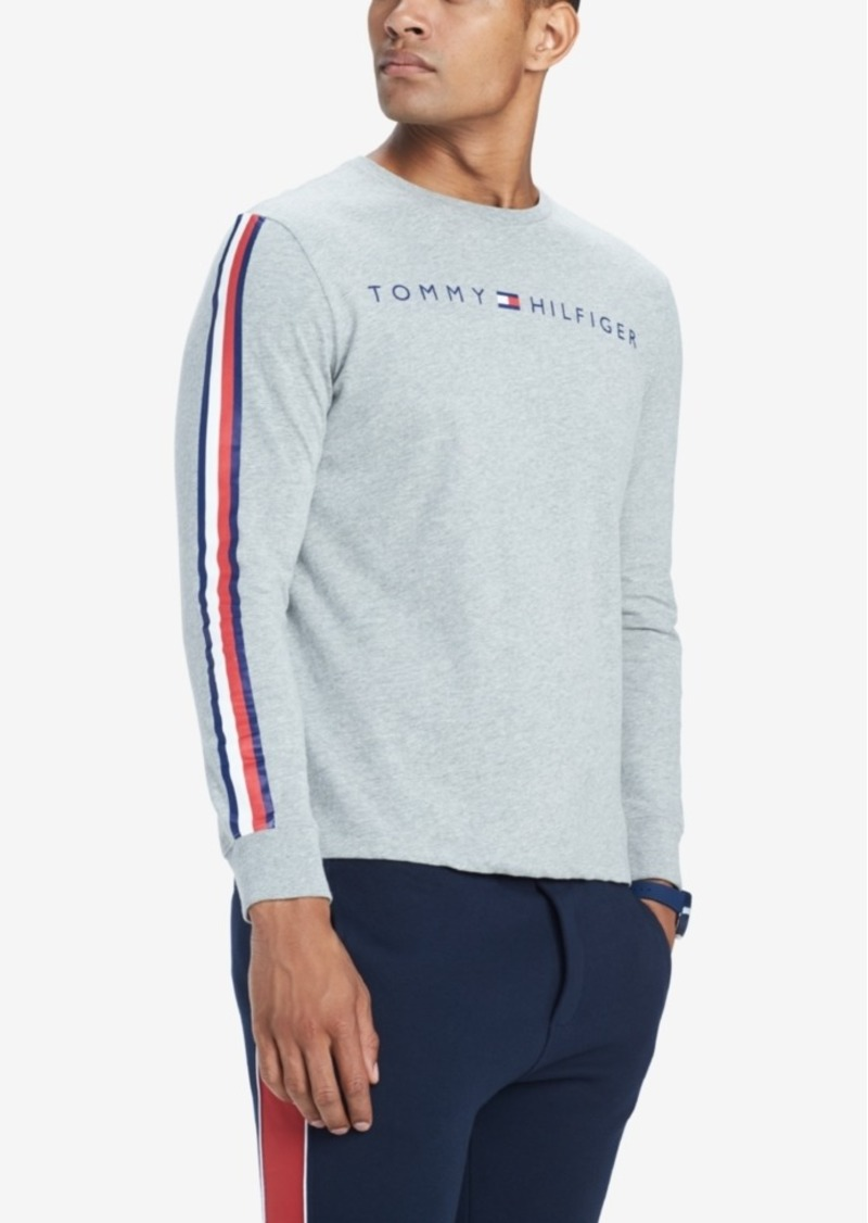 f5390d27 Men's Knox Stripe-Sleeve Logo Graphic T-Shirt, Created for Macy's. Tommy  Hilfiger