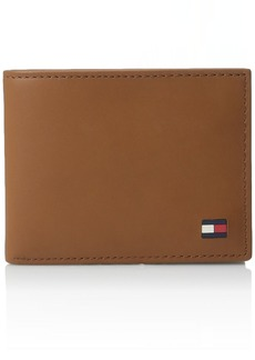 Tommy Hilfiger Men's Leather Wallet - Thin Sleek Casual Bifold with 6 Credit Card Pockets and Removable ID Window