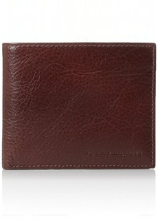 Tommy Hilfiger Men's Leather York Passcase Wallet with Removable Card Holder