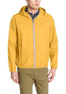 Tommy Hilfiger Men's Lightweight Hooded Packable Windbreaker Jacket  XL