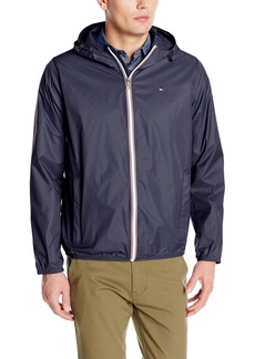 Tommy Hilfiger Men's Lightweight Hooded Packable Windbreaker Jacket  XXL