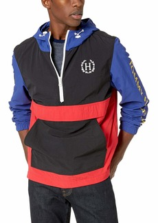 Tommy Hilfiger Men's Lightweight Taslan Hooded Popover Windbreaker Jacket