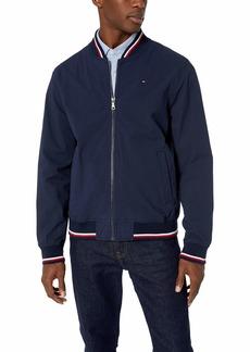 Tommy Hilfiger Men's Lightweight Varsity Rib Knit Bomber Jacket